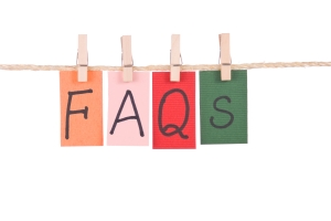 FAQS, Colorful words hang on rope