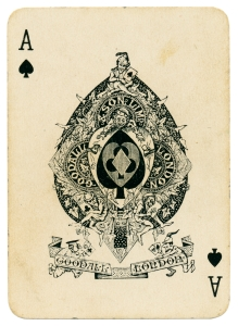 Ace of Spades playing card Coronation 1902