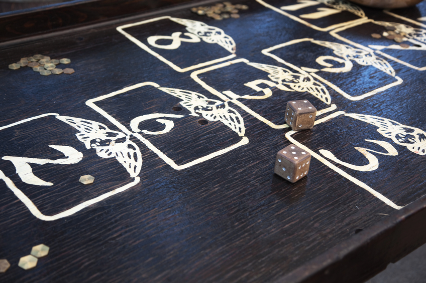 Medieval Gambling Table